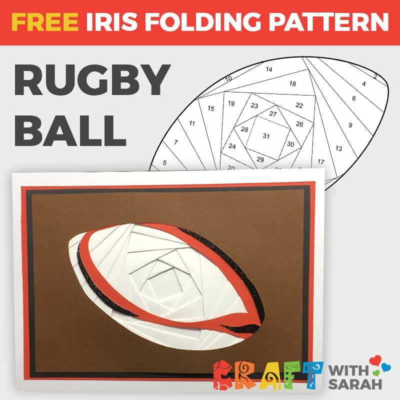 Rugby Ball Iris Folding Pattern