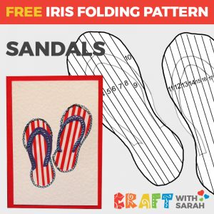 Summer Sandals Iris Folding Pattern