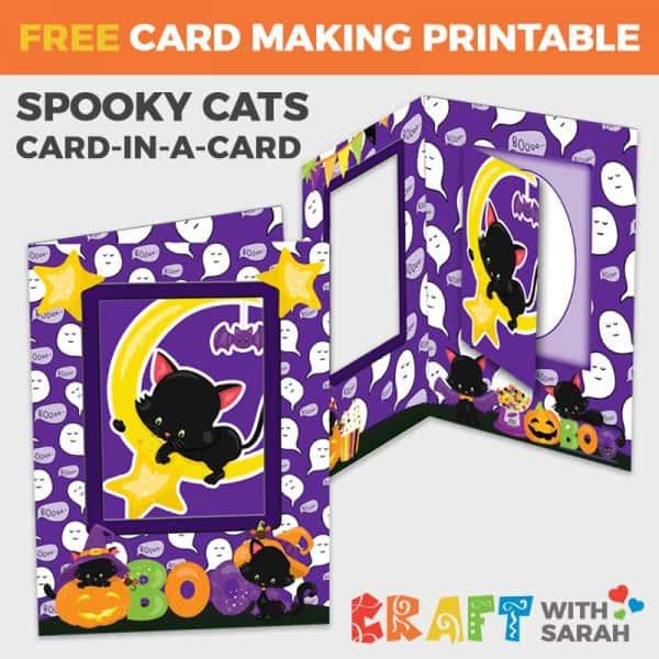 Halloween Cat Card-in-a-Card