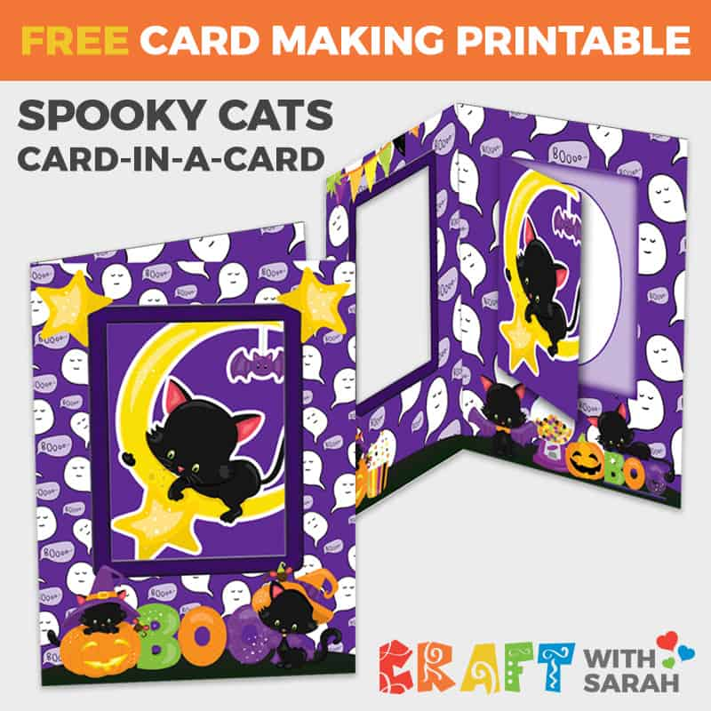 Halloween Cat Card-in-a-Card
