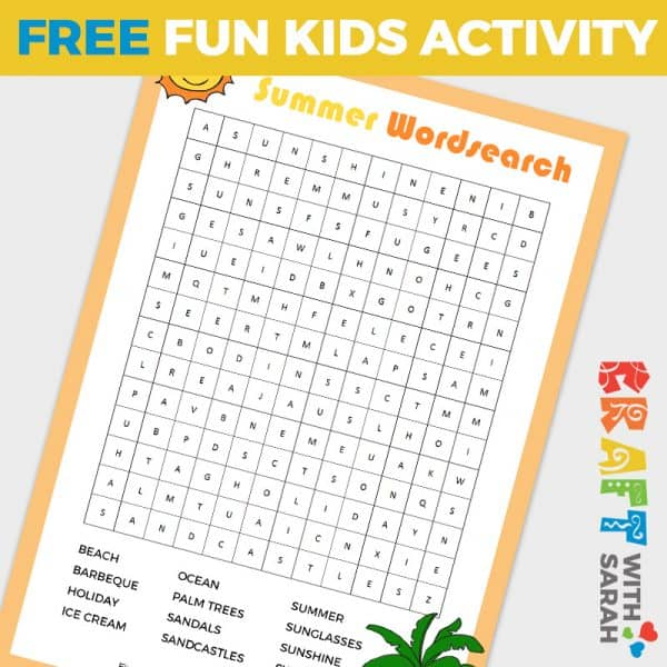 Summer Wordsearch Printable
