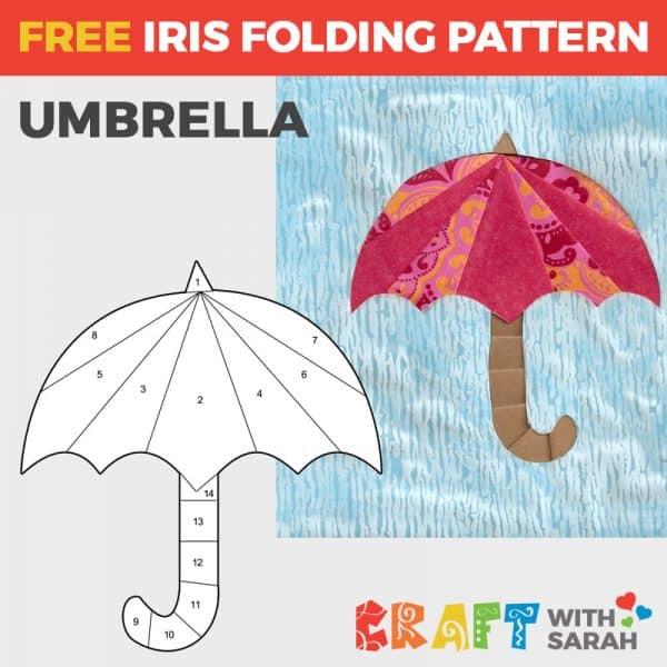Umbrella Iris Folding Pattern