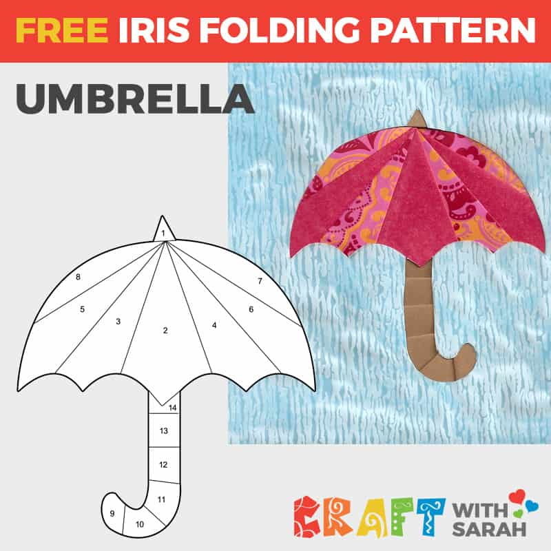 Umbrella Iris Folding Pattern