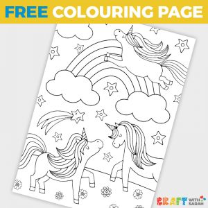 Free Rainbow Unicorns Coloring Page for Kids