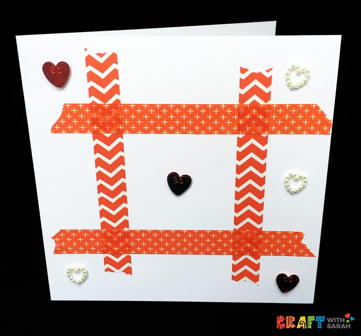 Valentine's Day Tic-Tac-Toe DIY Card