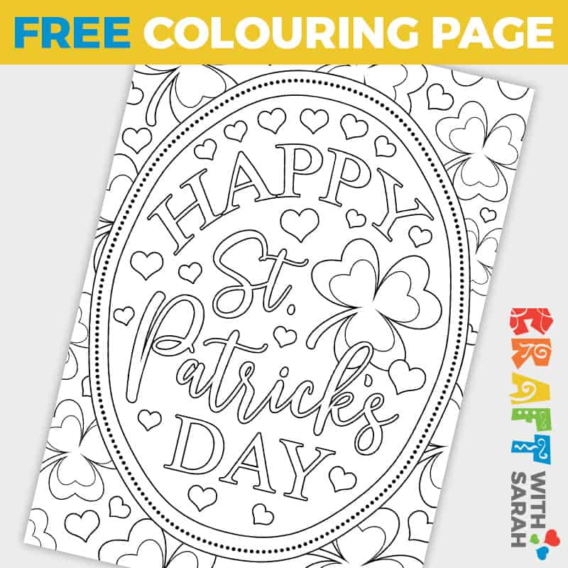St Patrick's Day Coloring Page
