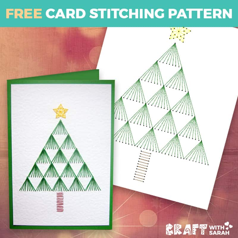 Christmas Tree Paper Embroidery