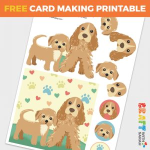Dogs Decoupage Card Making Sheet