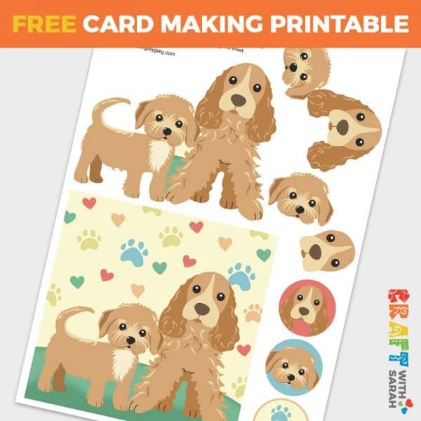 Dogs Decoupage Card Making Sheet
