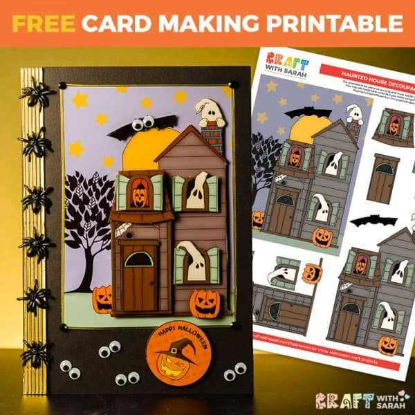 Halloween Haunted House Card Making Project