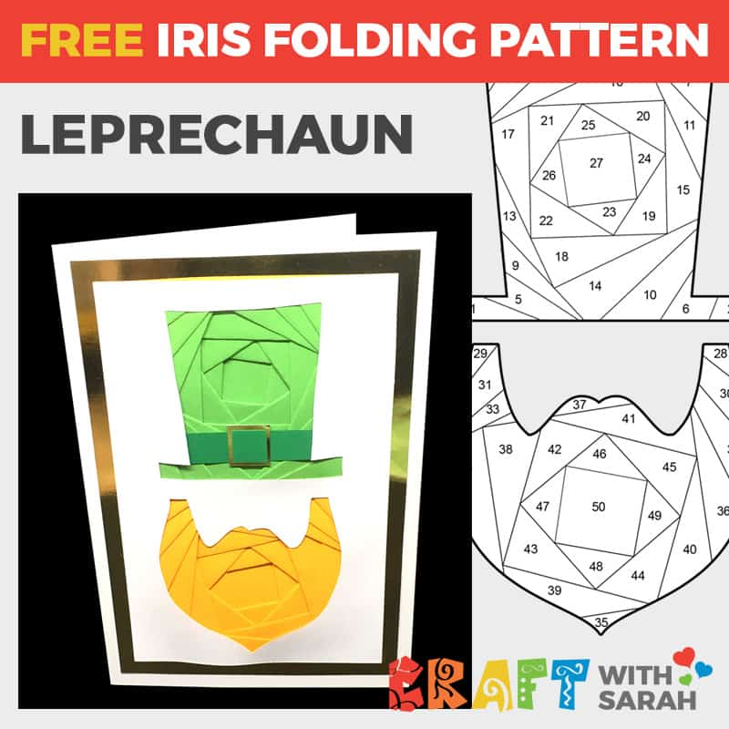 Leprechaun Iris Folding Pattern