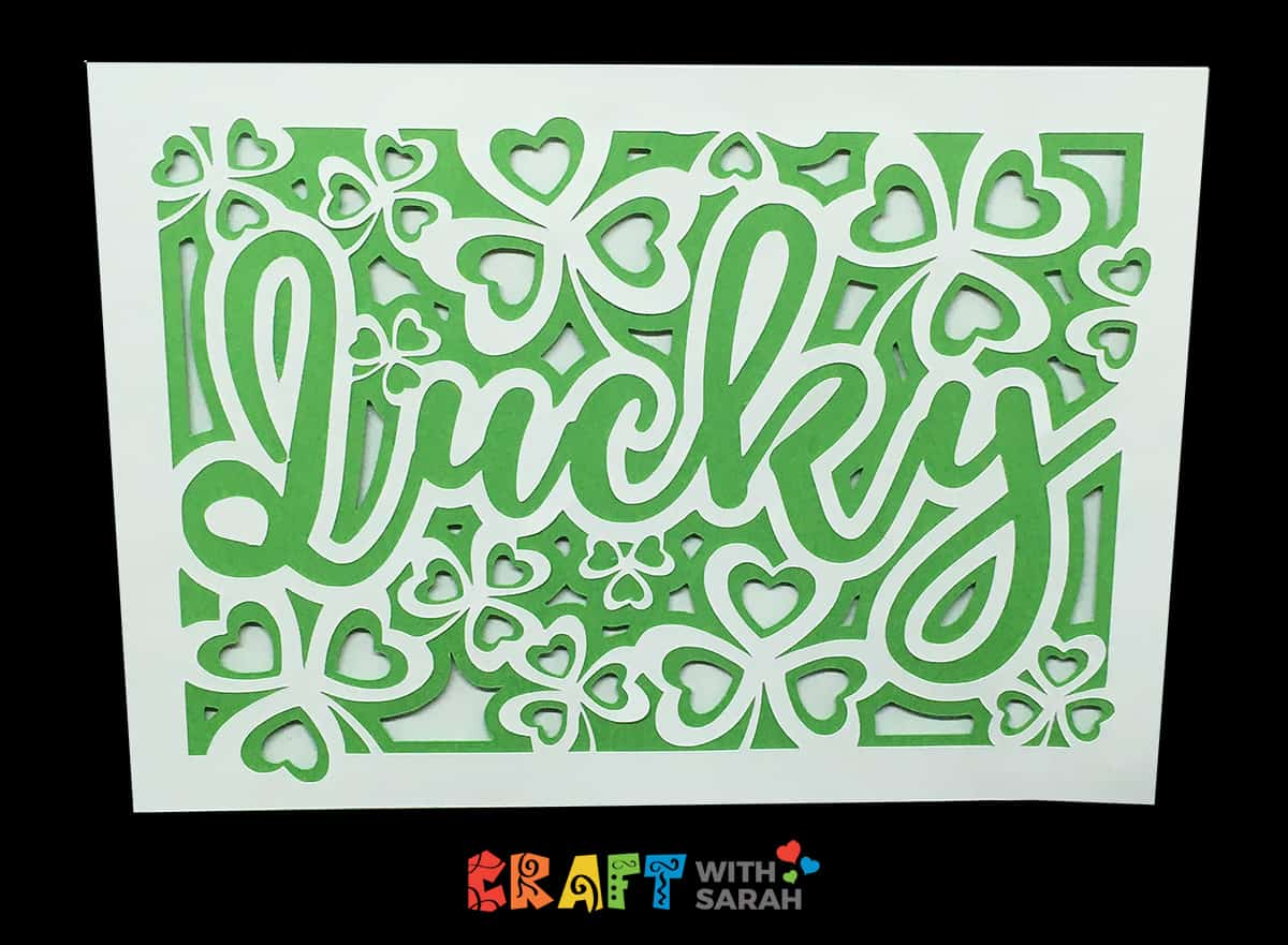 Lucky shamrock SVG card making file for Cricut machines