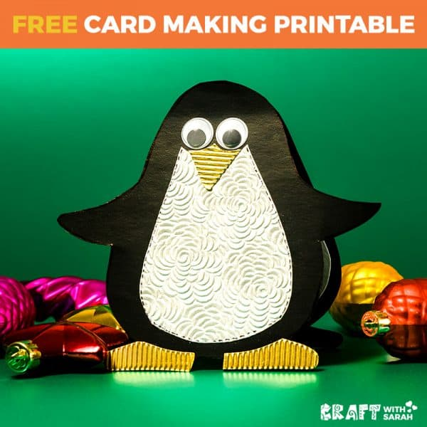 Penguin Shaped Card