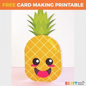 Kawaii Pineapple Shaped Card