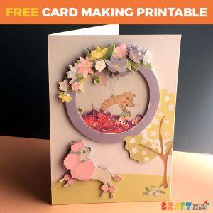 Springtime Poodle Shaker Card