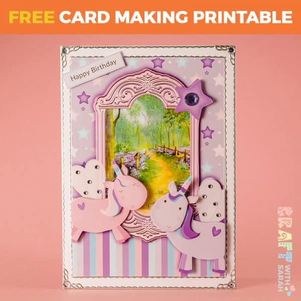 Unicorn Decoupage Printable