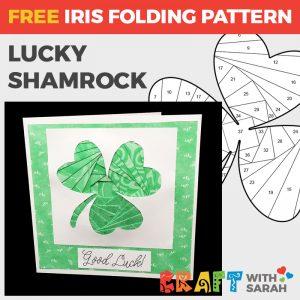 Shamrock Iris Folding Pattern