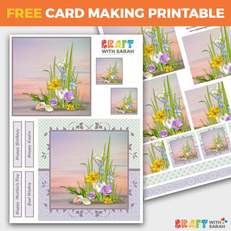 Spring Flowers Pyramage Card