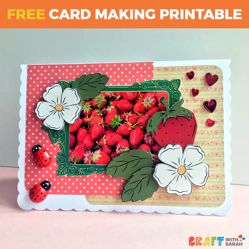 Strawberry Decoupage Printable
