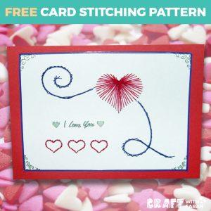 Valentine's Day Card Stitching