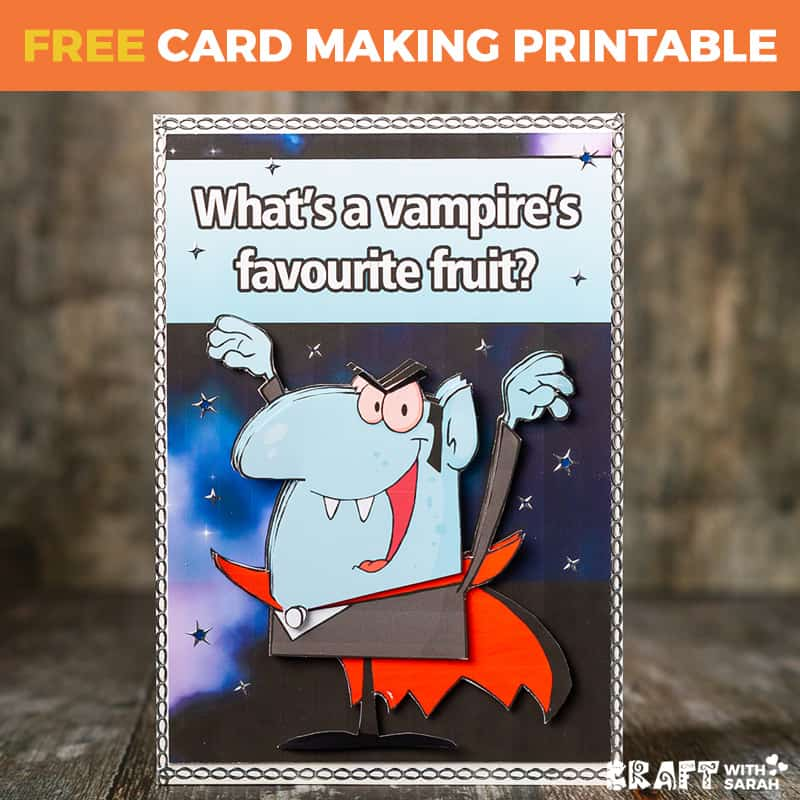 Vampire Halloween Joke Card