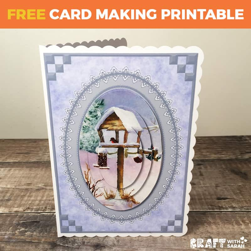 Watercolour Snow Scene Pyramage Card