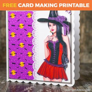 Pretty Witch Decoupage