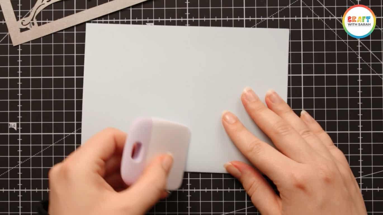 Crease card along score line with your Cricut scraper or a bone folder