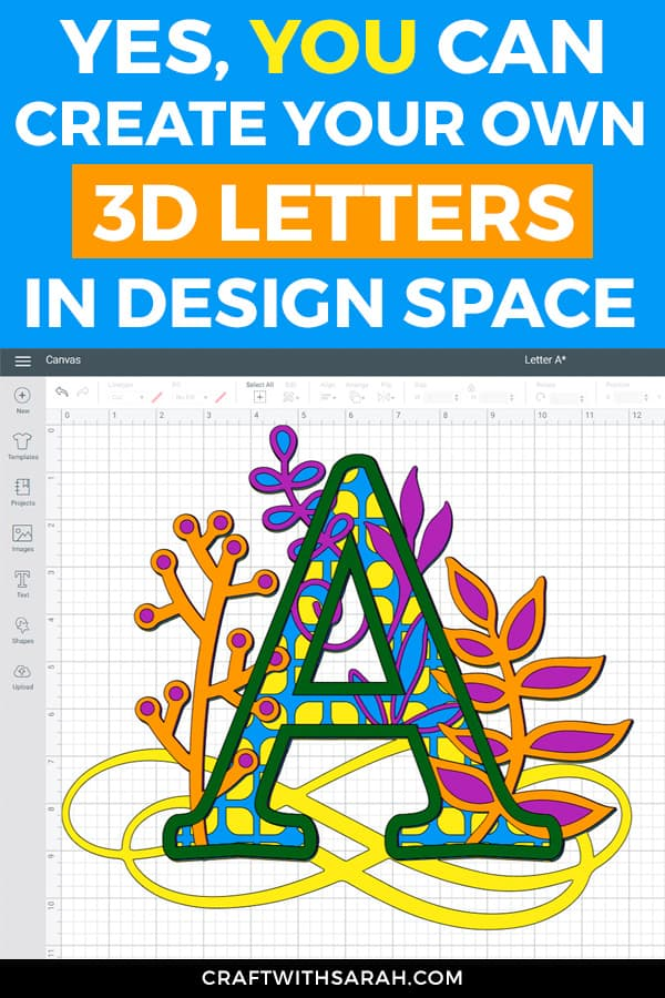 Yes, YOU can create your own 3D letters in Design Space! No graphic design skills or fancy software needed, just Design Space and Cricut Access images. 3D mandala letters for Cricut have never looked so good.