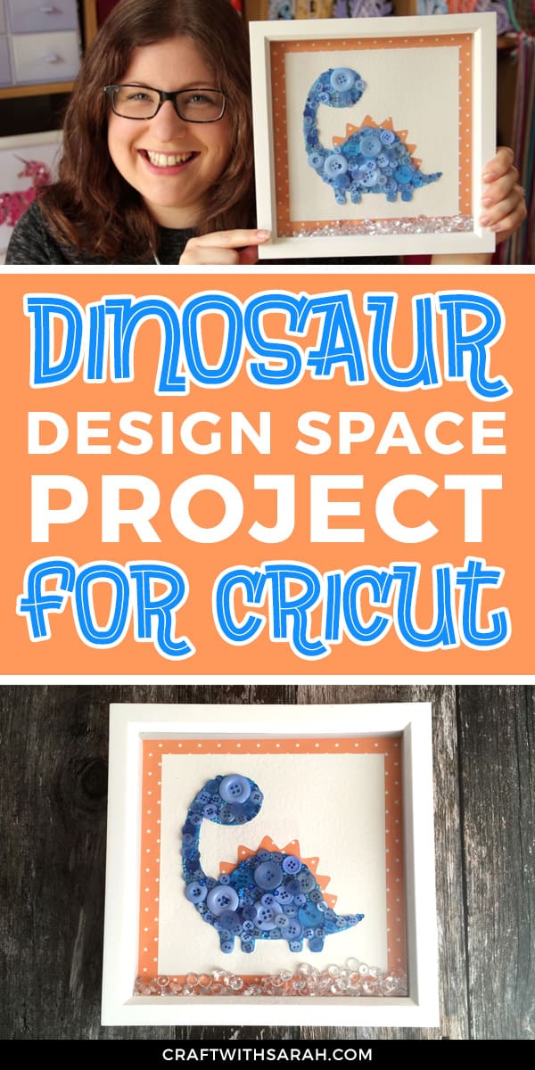 Download this dinosaur design space project for Cricut machines to make your own dinosaur wall art.