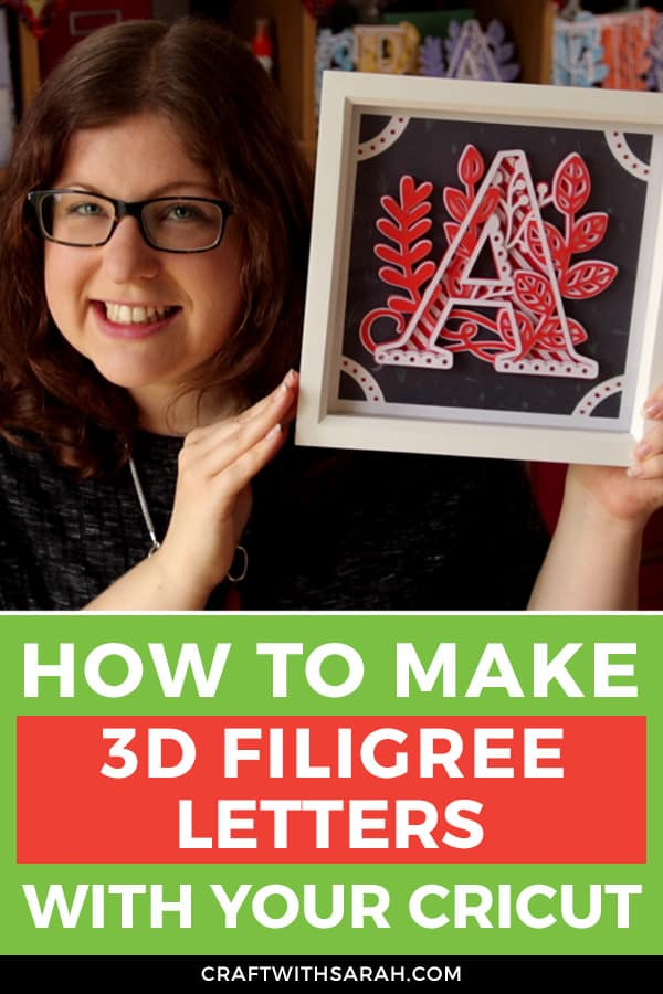 How to Make & Frame 3D Mandala Letters with a Cricut