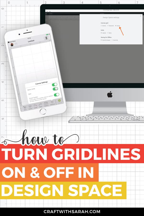 How to remove the Cricut Design Space grid lines and turn on the grid in Design Space. Take back control of your Cricut Design space gridlines!