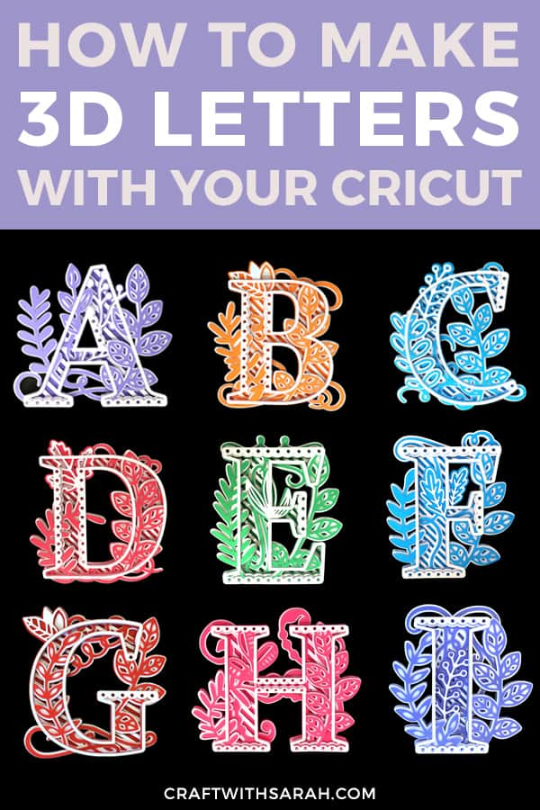 3D mandala letters for Cricut machines and other digital cutting machines. Learn how to cut, assemble and frame mandala letters with this easy-to-follow Cricut tutorial.