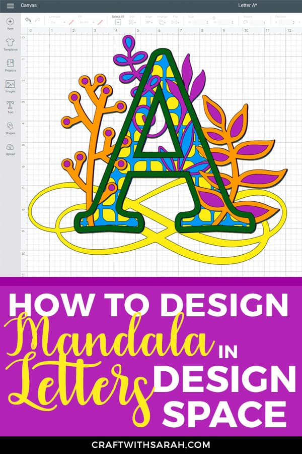 How to design 3D mandala letters in Design Space. Make your own 3D zentangle, mandala or filigree alphabet letters in Cricut Design Space software.