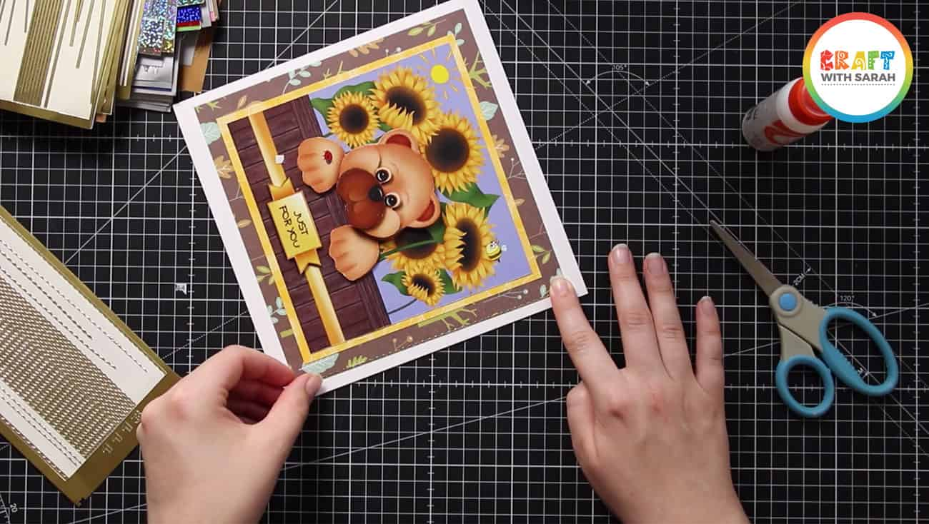 How to add a border sticker to a handmade card