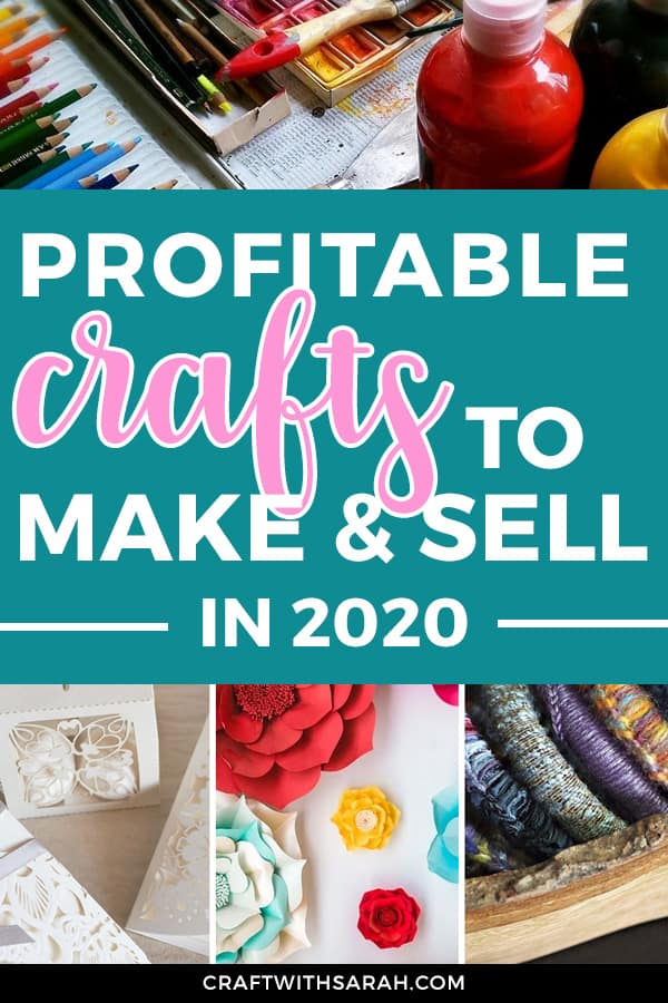 Profitable crafts to make and sell in 2020. From digital products to personalised art, find out how to make money from crafts in 2020 with these profitable craft ideas.