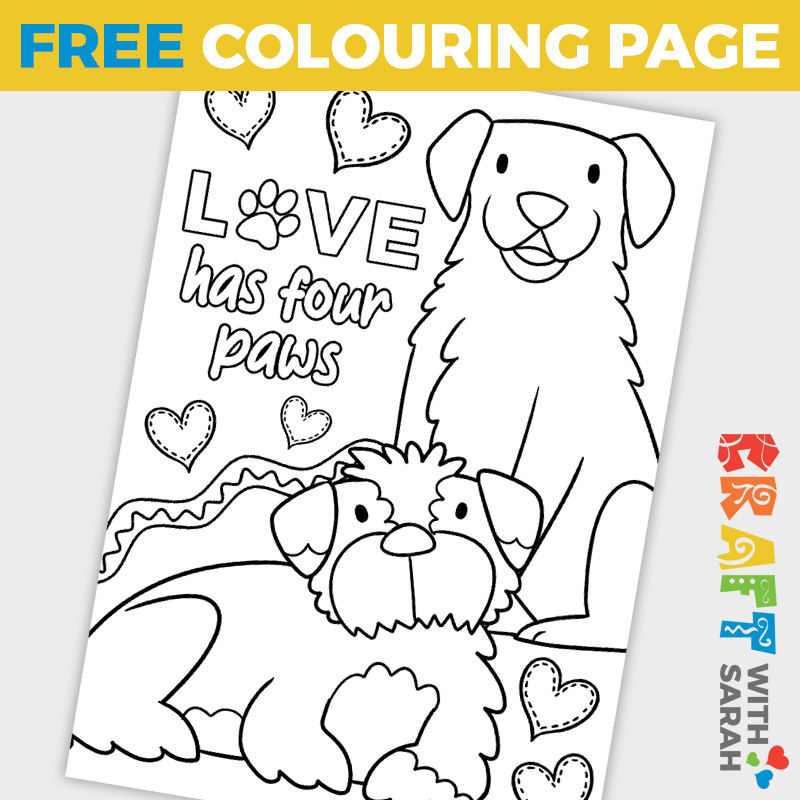 Free Coloring Page for Dog Lovers