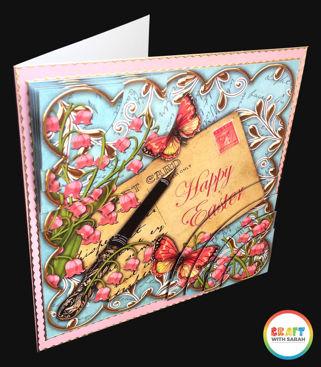 Duo corner stacker handmade card for Easter