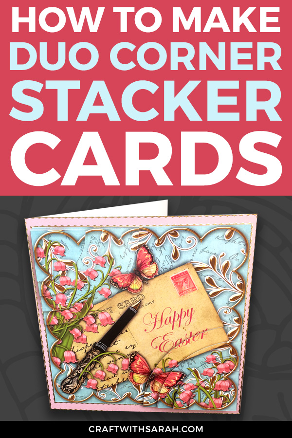 For a card that REALLY stands out, learn how to make duo corner stacker handmade cards with this quick & easy card making tutorial.