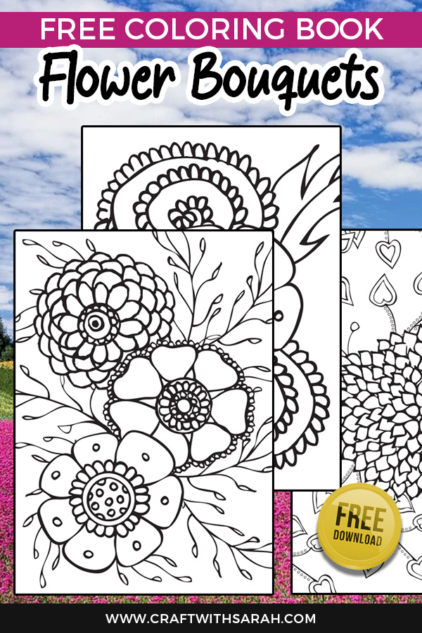 Celebrate all things floral with these free coloring pages of pretty flowers and bouquets.