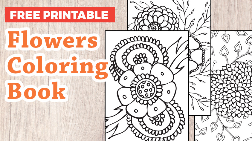 Free flowers coloring pages.