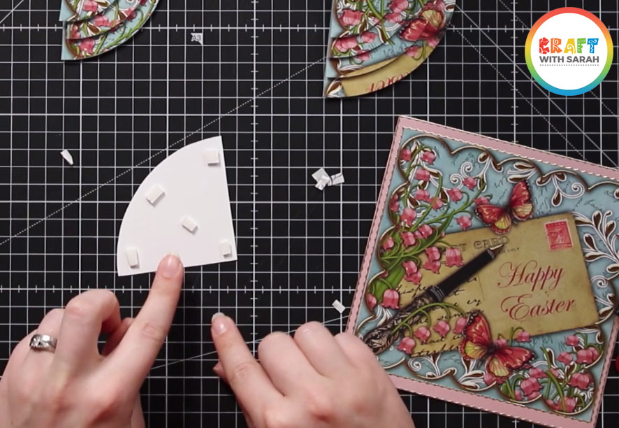 Add foam pads for a 3D effect to your duo corner stacker cards