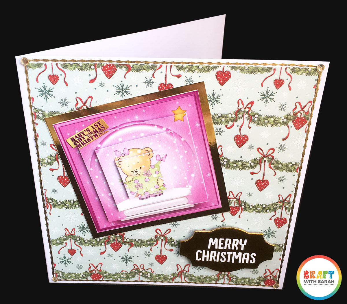 Pyramage card for baby's first Christmas