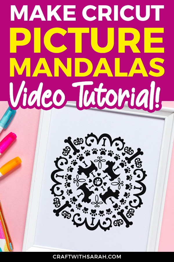 how to design picture mandalas for your Cricut. Make mandalas in Design Space and how to cut mandalas with a Cricut. Easy mandala creation tutorial with video.