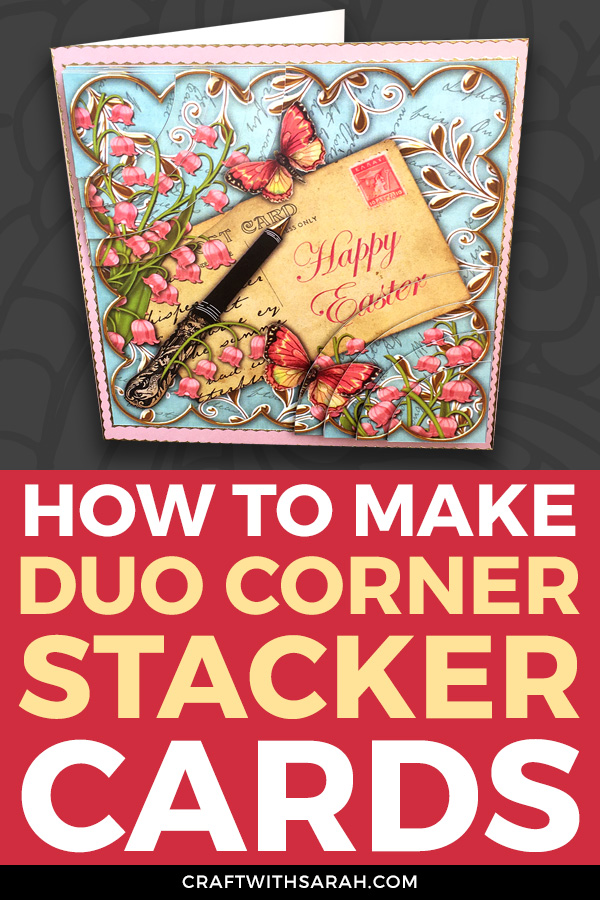 Make a handmade card that REALLY stands out! Follow these step-by-step-instructions for how to make duo corner stackers on your handmade cards. #cardmaking