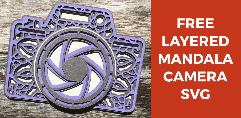 Free Layered Camera SVG | Layered Mandala Camera