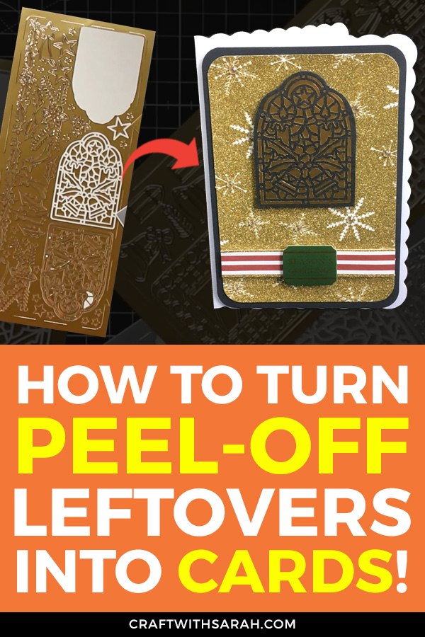 Don't you just HATE having to throw away card making supplies that totally SHOULD be usable? Turn those tiny bits of peel off sticker leftovers into beautiful new cards with this 5-minute video tutorial.