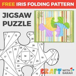 Puzzle Piece Iris Folding Pattern