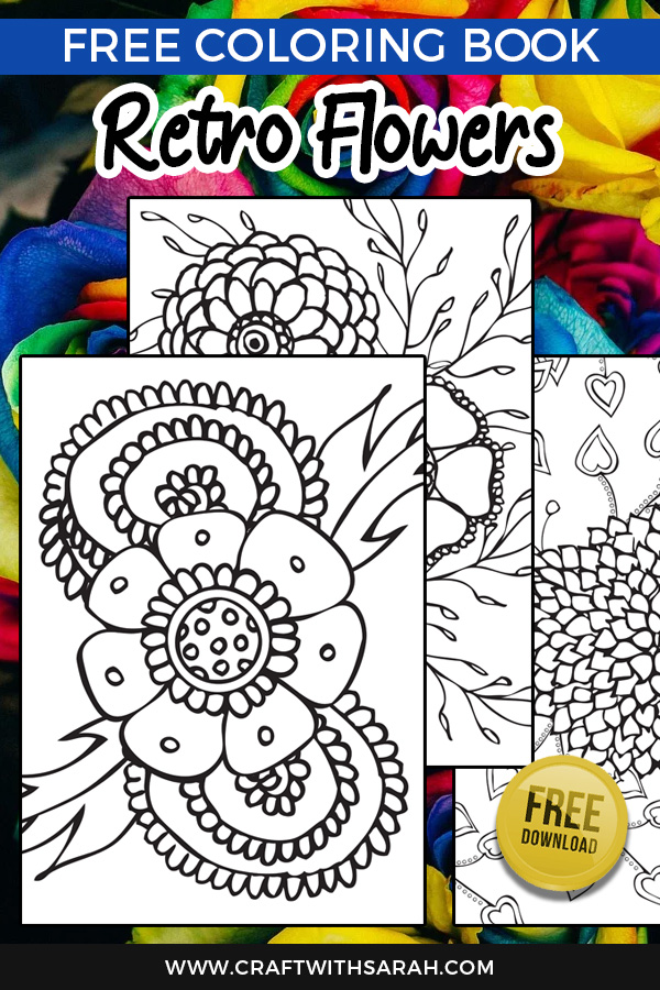 Free retro flowers coloring pages. Get your free coloring book filled with gorgeous retro flowers to print and colour at home.