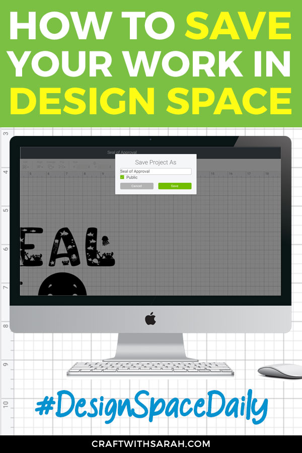 Saving your Design Space projects regularly is a good habit to get in to and it will probably save you many headaches in the future! Here's how to save in Cricut Design Space.